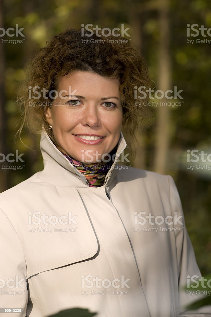beautiful woman in park close up royalty-free stock photo