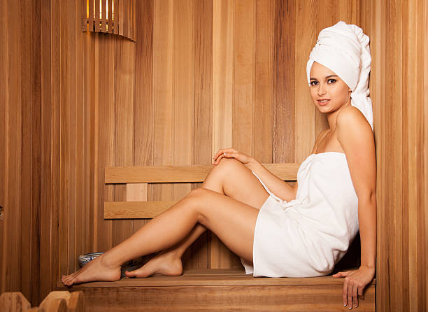 Silhouette Of Nude Sauna Stock Photos, Pictures & Royalty