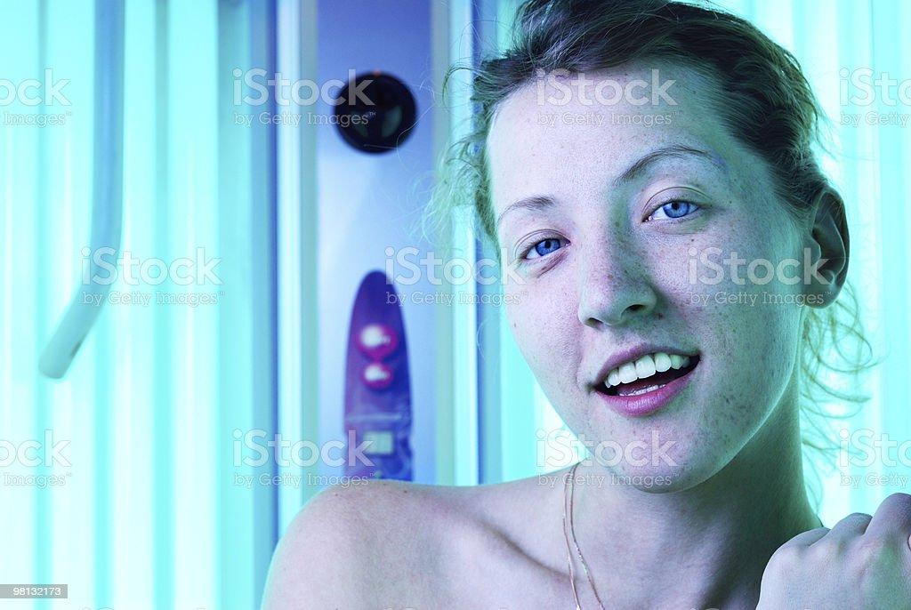 beautiful woman in solarium royalty-free stock photo