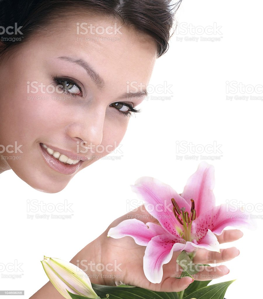 Beautiful  woman in spa. Health resort. royalty-free stock photo