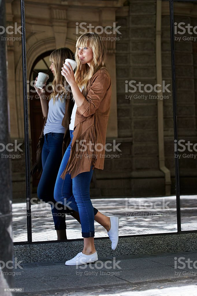 Beautiful woman in suede jacket stock photo