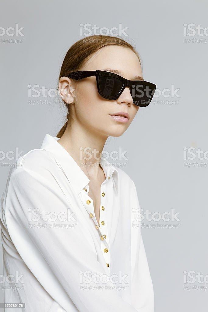 Beautiful woman in sunglasses royalty-free stock photo