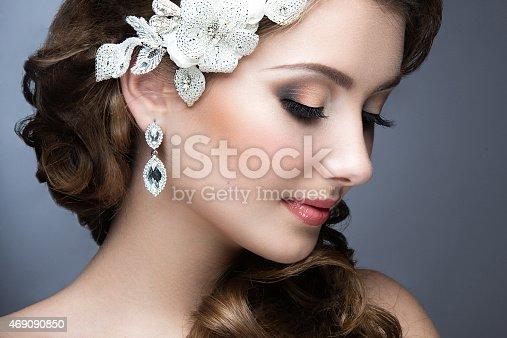 istock beautiful woman in wedding dress in image of bride. 469090850
