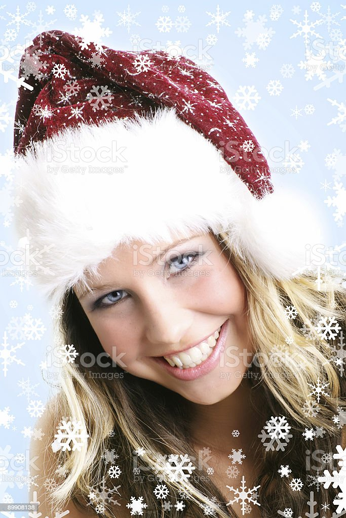 Schöne Frau im winter Lizenzfreies stock-foto