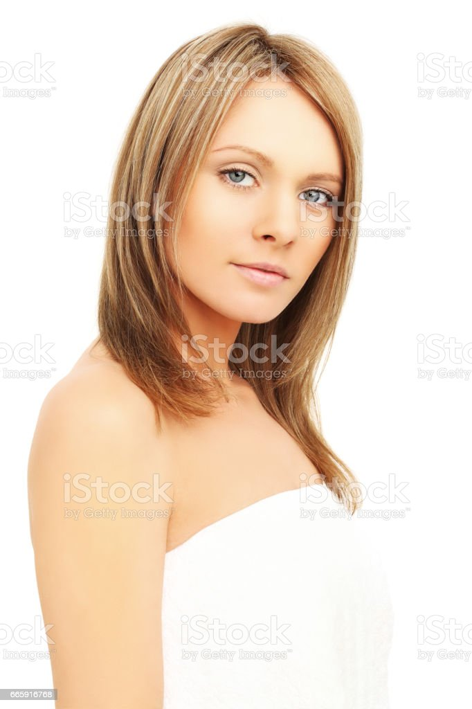 Beautiful woman isolated on white background foto stock royalty-free