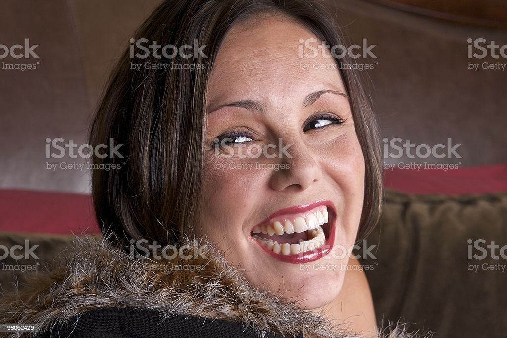 Beautiful Woman Laughing royalty-free stock photo
