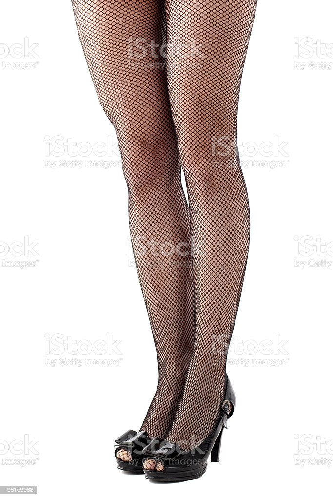 Beautiful woman legs in stockings royalty-free stock photo