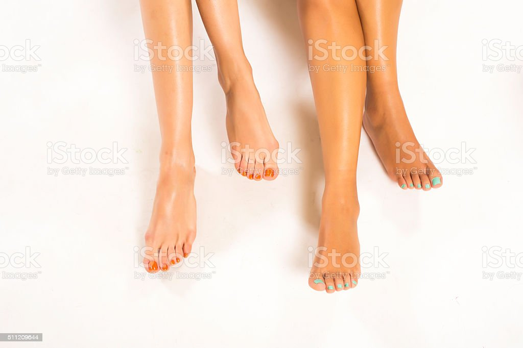 Beautiful woman legs stock photo