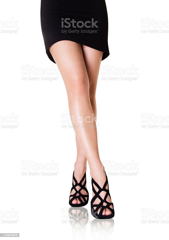 d5b20e7d021 Beautiful Woman Legs With Black Shoes And Skirt Stock Photo   More ...