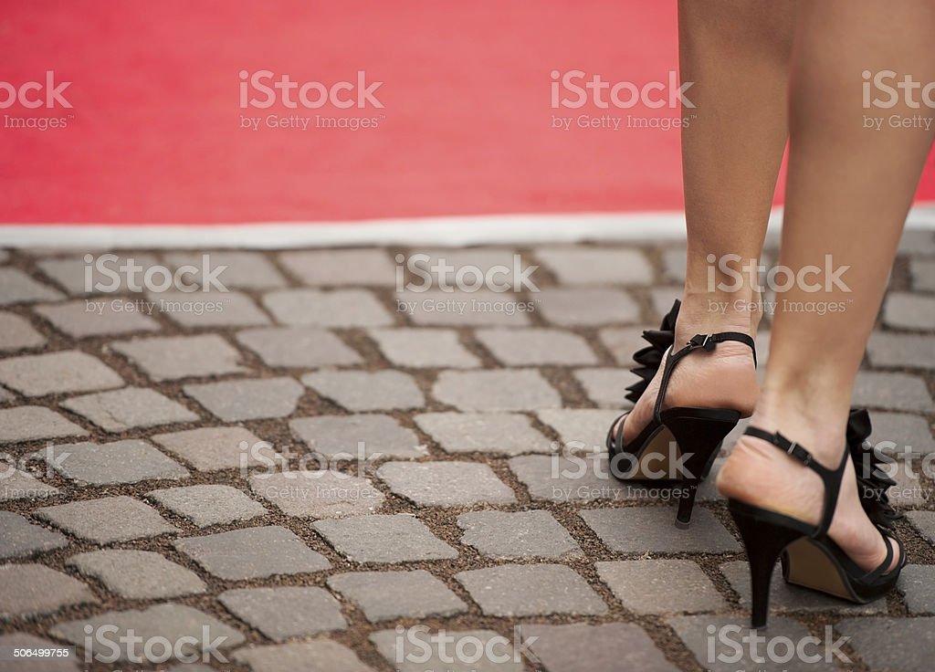 newest 130da 0fd74 Bella Donna Gambe E Tacchi Alti Sandals - Fotografie stock e ...