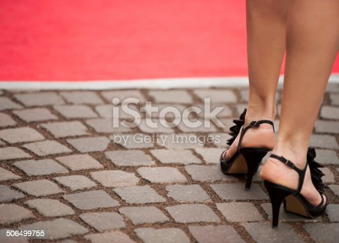 157582133 istock photo Beautiful Woman Legs with High Heels Sandals 506499755