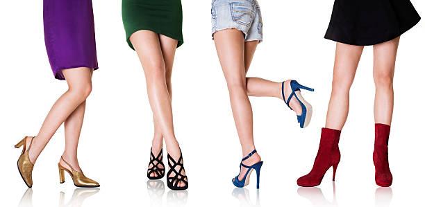 schöne frau beine mit shoes.fashion styles. - schlanke waden stock-fotos und bilder