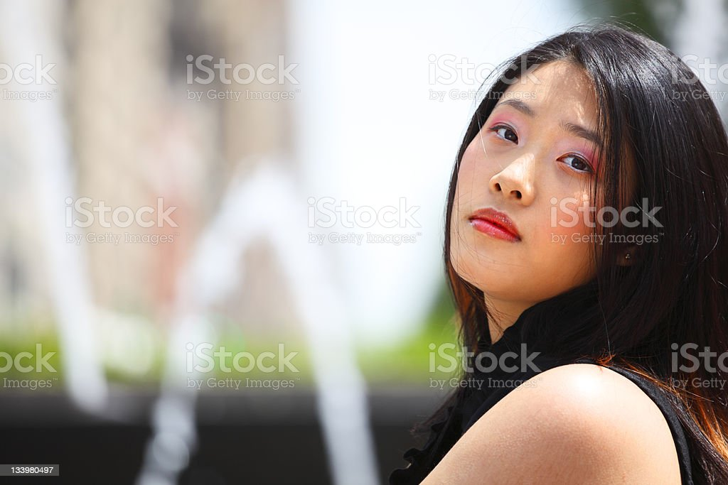 Beautiful Woman Looks stock photo
