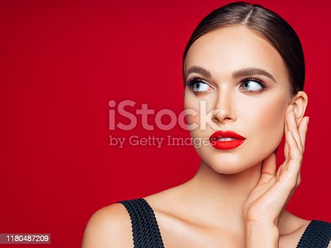 Beautiful woman. Make-up and perfect skin