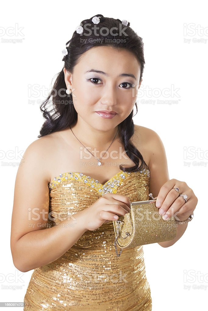 Beautiful woman of Asia royalty-free stock photo