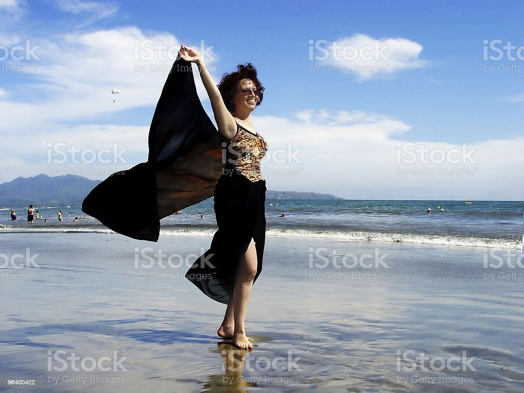 Beautiful woman on the beach - Royalty-free Adult Stock Photo