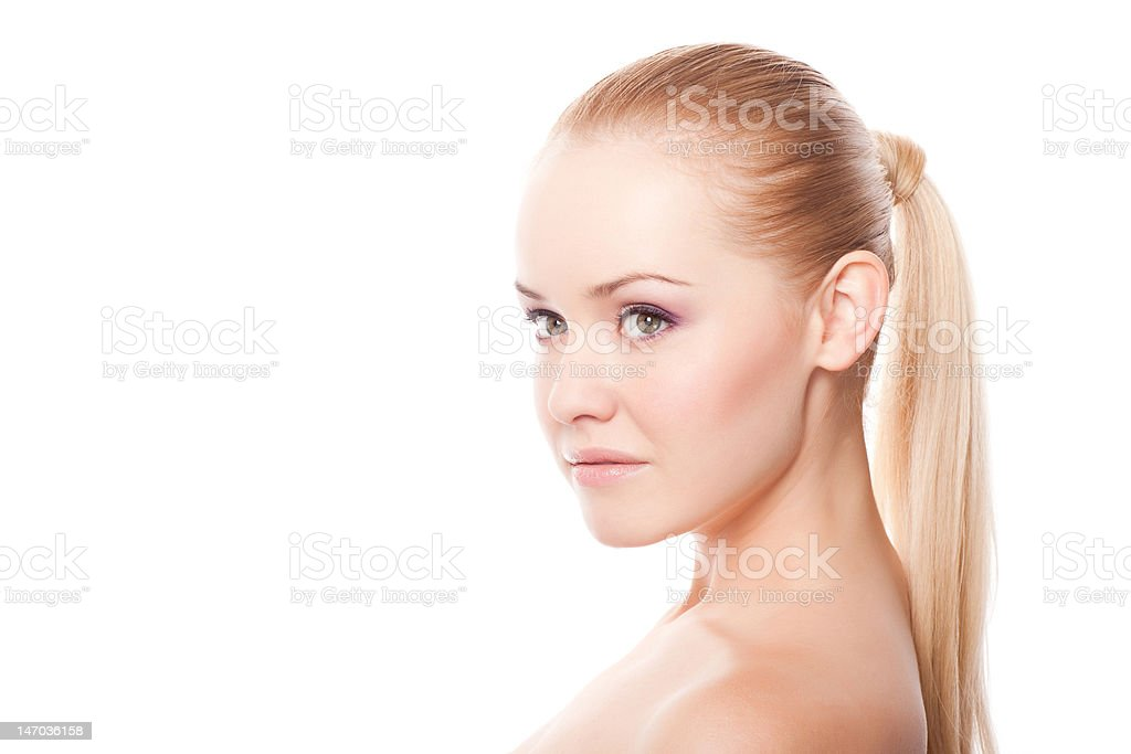 beautiful woman on white royalty-free stock photo