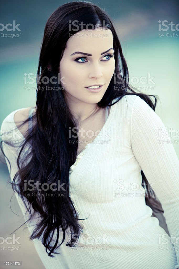 Beautiful Woman Outdoor Nature royalty-free stock photo