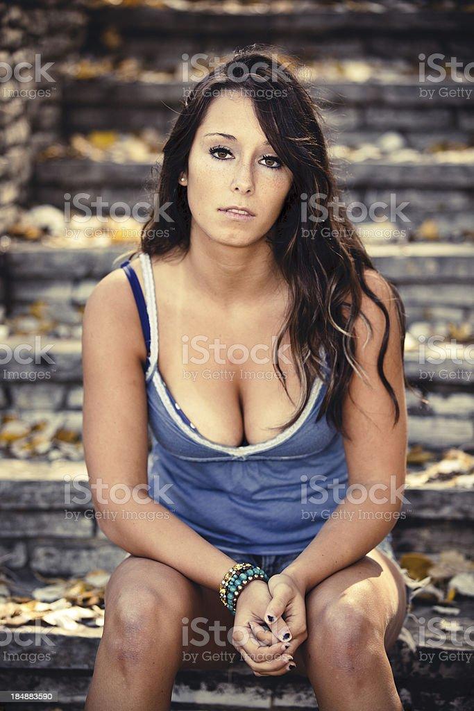 Beautiful Woman Outdoor Nature stock photo