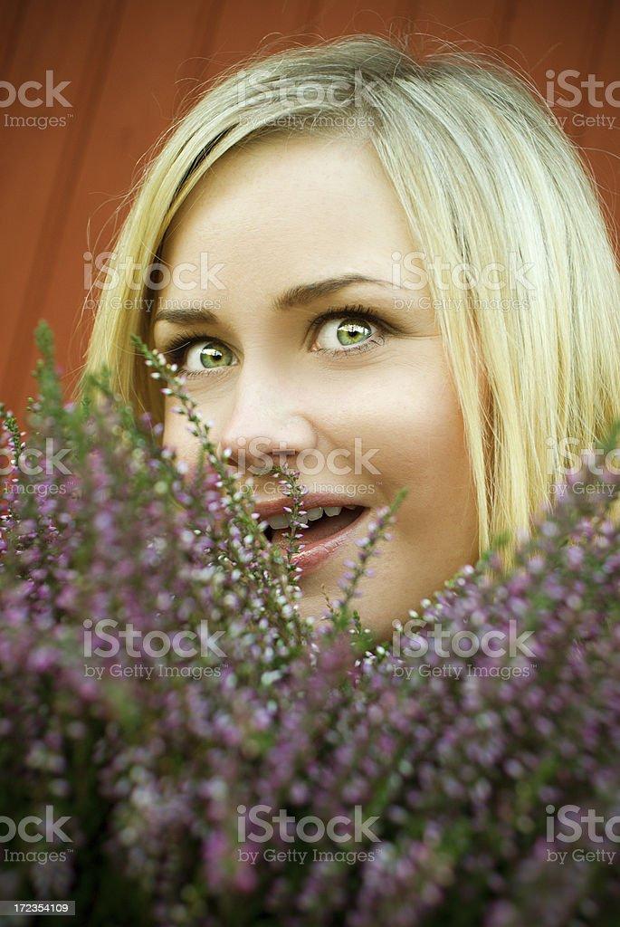 Beautiful woman outdoors royalty-free stock photo