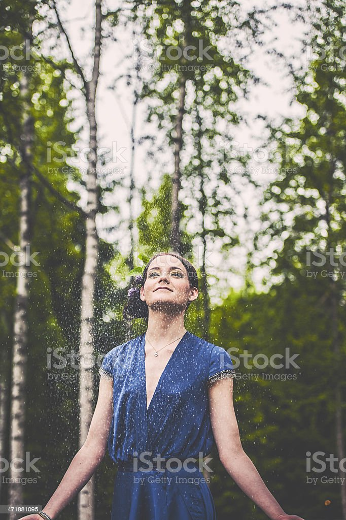 Beautiful woman outdoors royalty-free stock photo