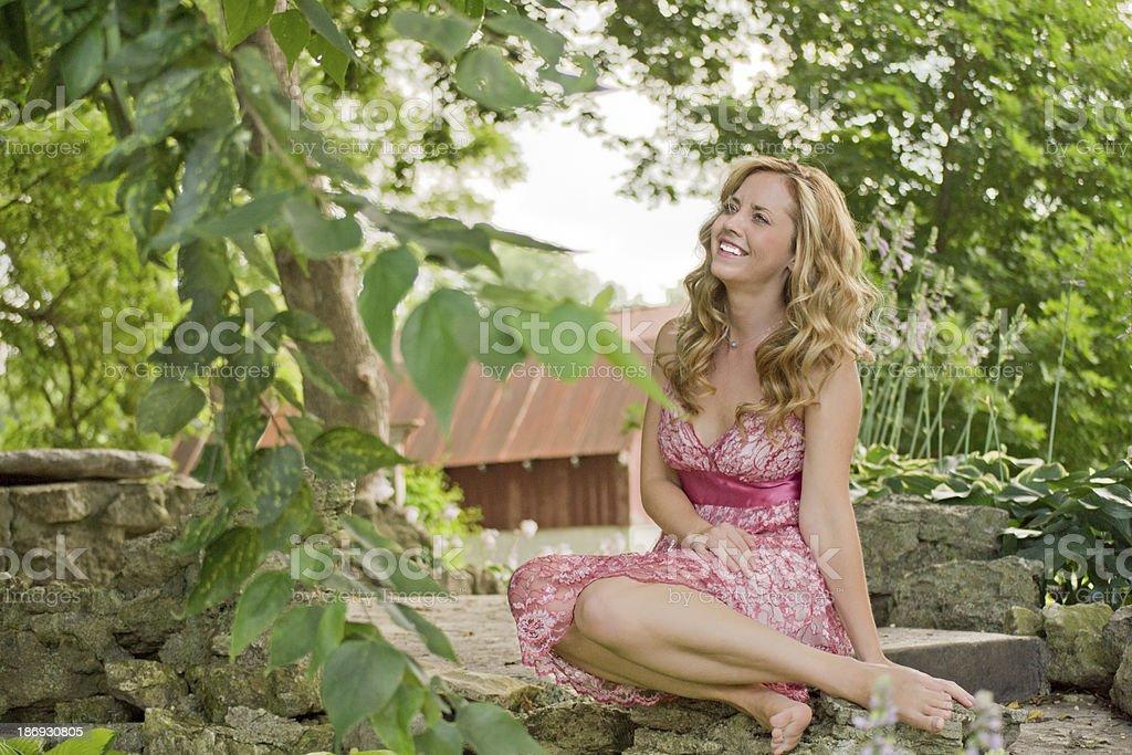 Beautiful Woman Outside stock photo