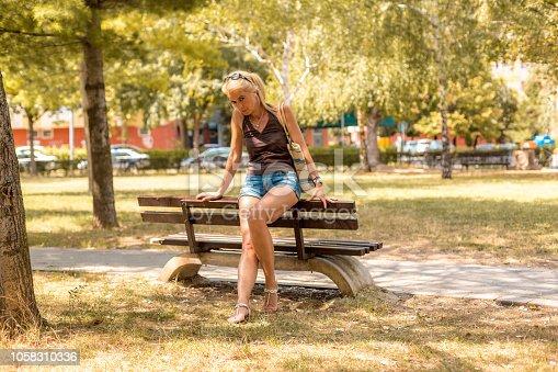 istock Beautiful woman 1058310336