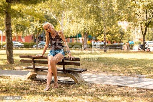 istock Beautiful woman 1058310394