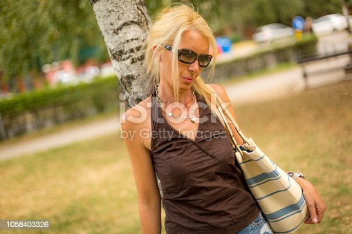 istock Beautiful woman 1058403326