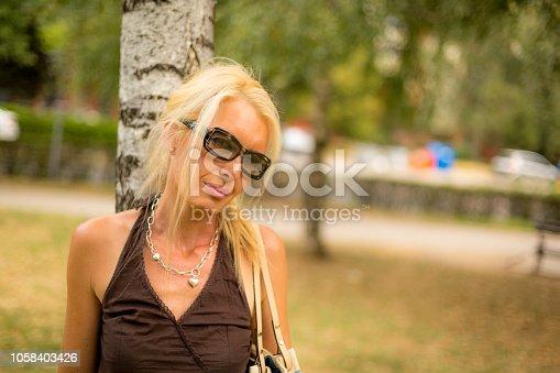 istock Beautiful woman 1058403426