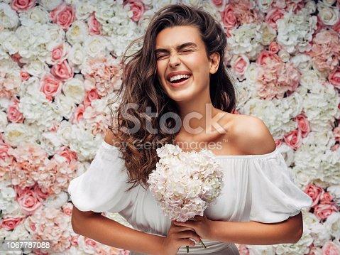 istock Beautiful woman 1067787088