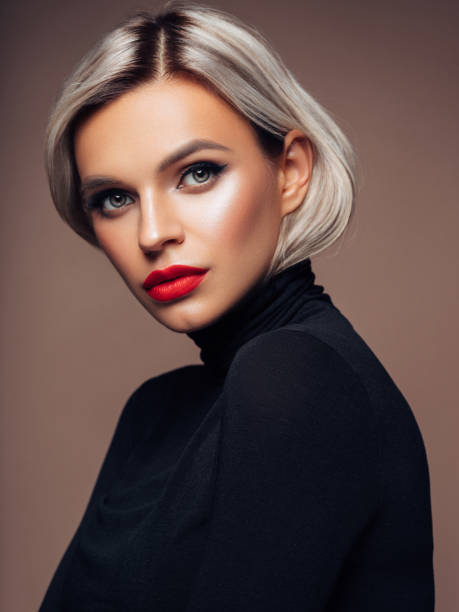 Beautiful woman Beautiful woman short hair stock pictures, royalty-free photos & images