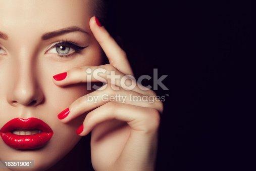 Studio shot of young beautiful woman. Professional make up.  http://i243.photobucket.com/albums/ff297/sava2205/makeup.jpg
