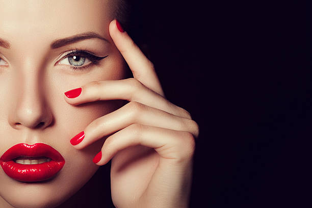 beautiful woman - human lips stock photos and pictures
