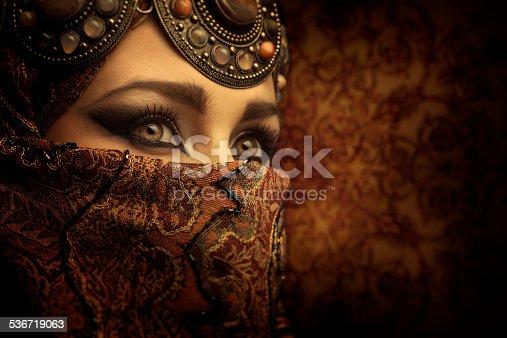 Portrait of a beautiful arabic woman