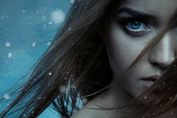 beautiful woman - demon stock photos and pictures