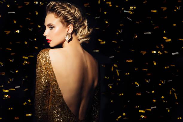 mujer bella - moda de maquillaje fotografías e imágenes de stock