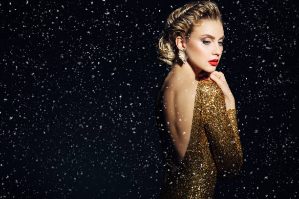 beautiful woman - glamour stock photos and pictures
