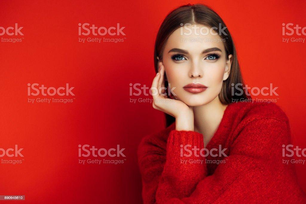 Güzel kadın stok fotoğrafı
