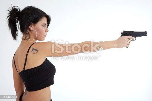 A young beautiful woman with gun on clear backgroundhttp://www.massimomerlini.it/is/model2.jpghttp://www.massimomerlini.it/is/model1.jpghttp://www.massimomerlini.it/is/model3.jpghttp://www.massimomerlini.it/is/model4.jpg