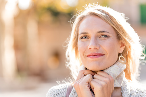 Beautiful Woman Portrait On The Street Stock Photo - Download Image Now