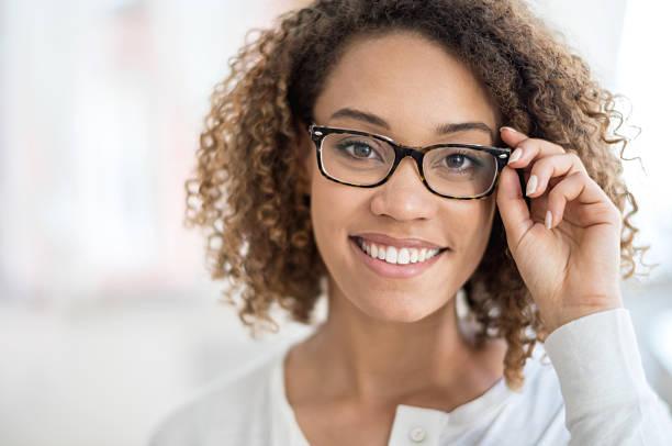 Beautiful woman portrait wearing glasses - Photo
