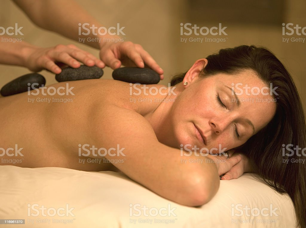Beautiful Woman Receiving A Spa Treatment royalty-free stock photo