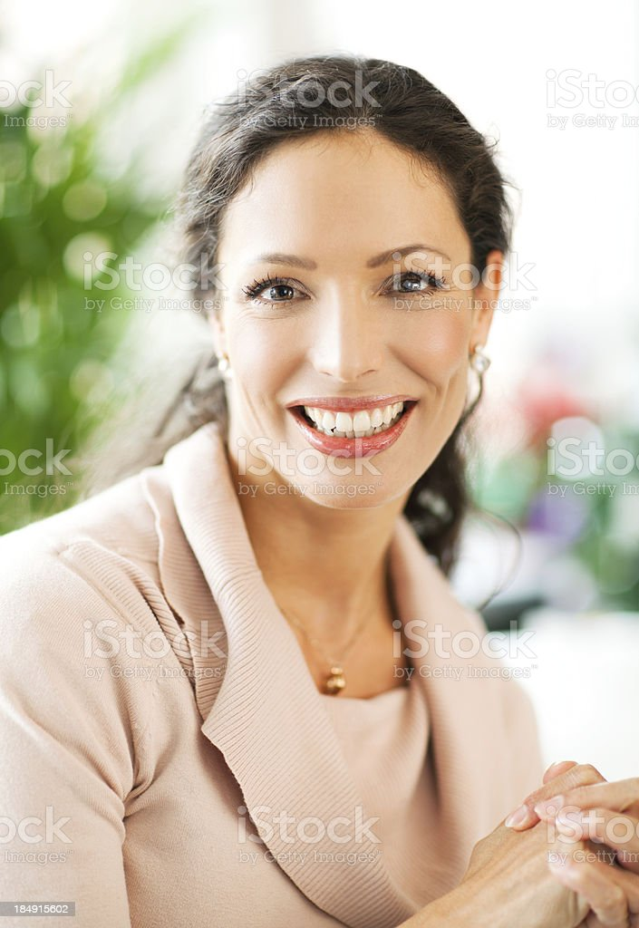 Beautiful Woman Relaxing At Home stock photo