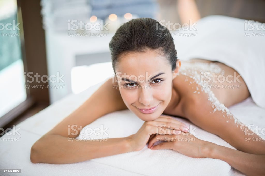 0b8dabb5d91 Beautiful Woman Relaxing On Massage Table At Spa Stock Photo & More ...
