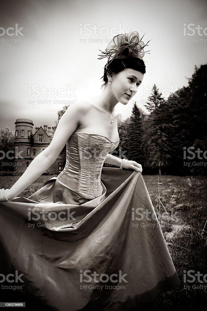 Beautiful woman running royalty-free stock photo