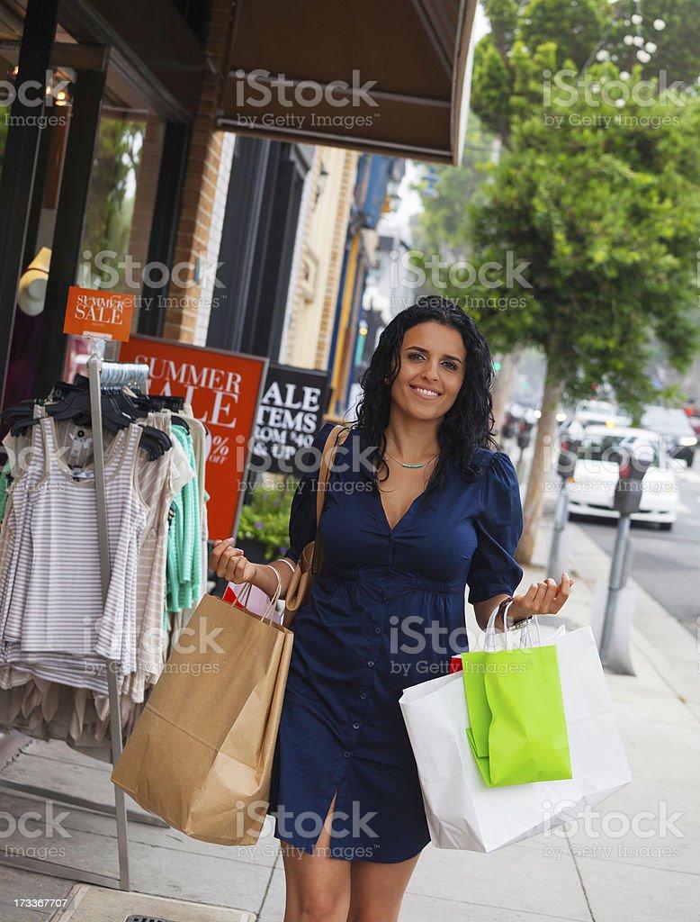 beautiful woman shopping royalty-free stock photo