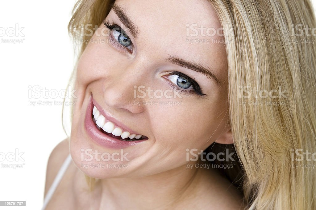 Beautiful woman shot from above royalty-free stock photo