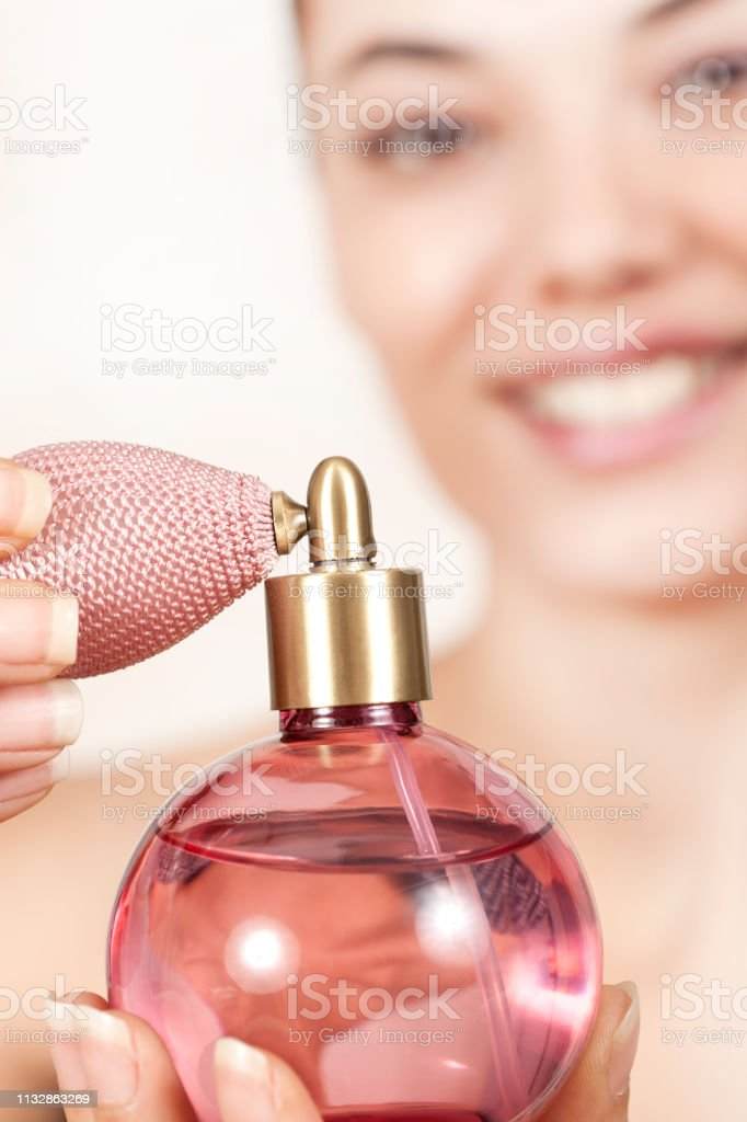 beautiful woman skin care and perfume concept