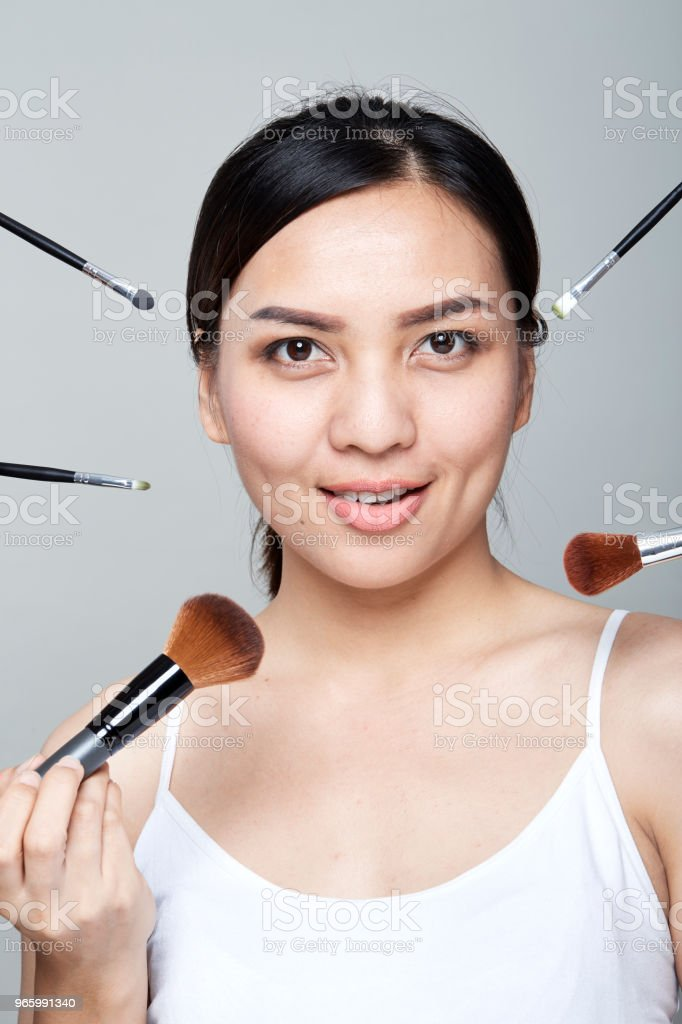 Mooie vrouw skincare portret - Royalty-free 20-24 jaar Stockfoto